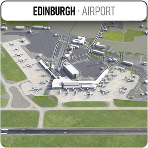 3D model edinburgh airport - edi