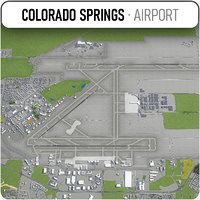 colorado springs airport - 3D model