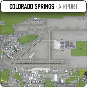 colorado springs airport - 3D model