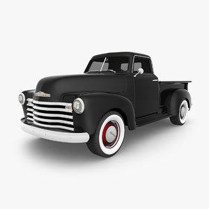 chevrolet truck 1948 3D model