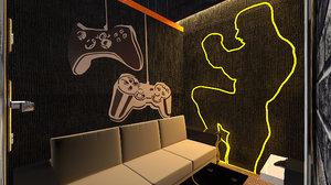 2 smart playstation club 3D model