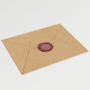 3D closed envelope sealing wax