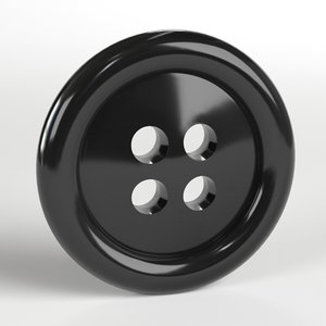 clothing button 3D