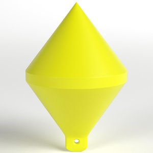 conic marker buoy 3D