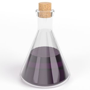 conical potion flask 3D model
