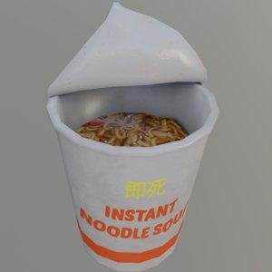 instant noodle soup 3D model