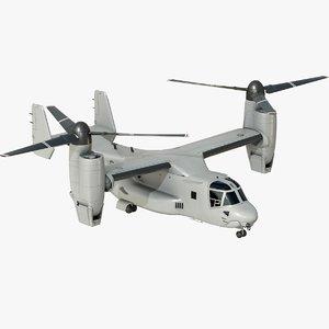 3D bell v-22 osprey tiltrotor