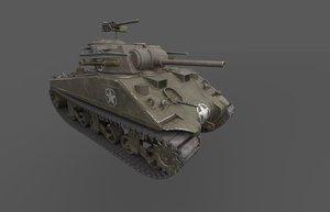 m4 sherman tank 3D