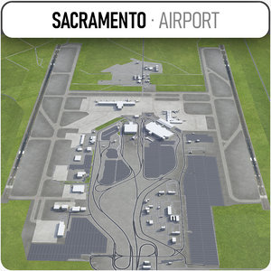 sacramento international airport - model