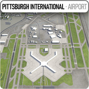 3D model pittsburgh international airport -