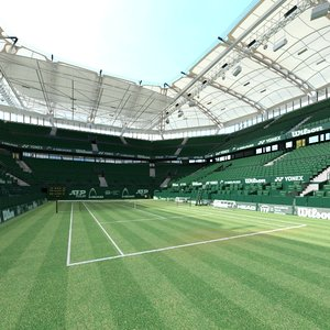 tennis arena grass 3D