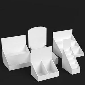 3D counter display mockups model