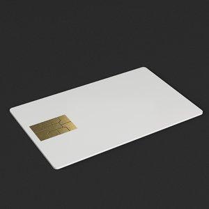 credit card mockup 3D model