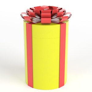 3D cylindrical gift case model