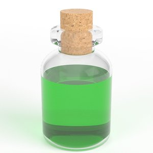 cylindrical potion flask model