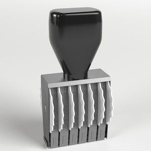3D dater stamp