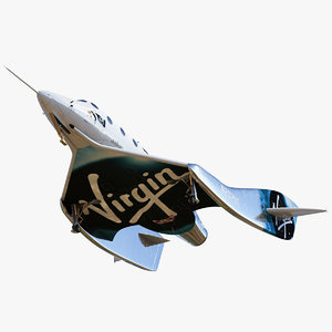 3D vss unity virgin galactic model