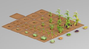 3D farm vegetable