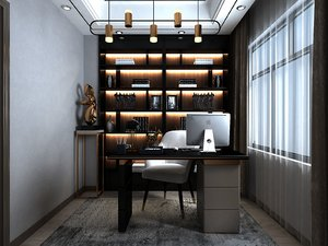 3D model home office
