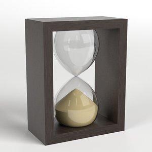 3D deco hourglass 1 model