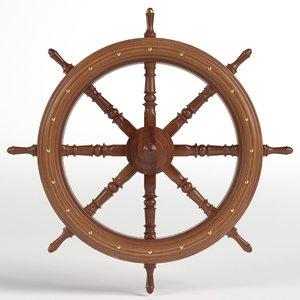 3D decorative rudder model
