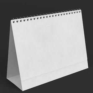 desktop calendar template 3D