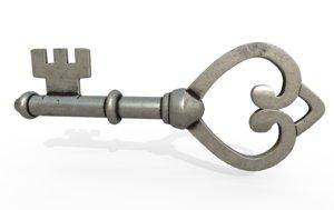 antique key 3D