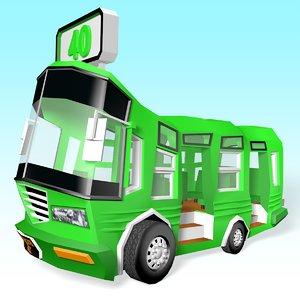 3D bus vehicle