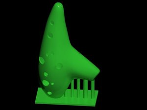 3D ocarina music instrument