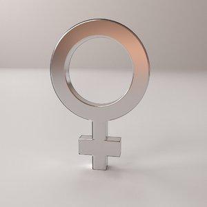 female symbol 3D