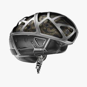 cyber brain organized 3D model
