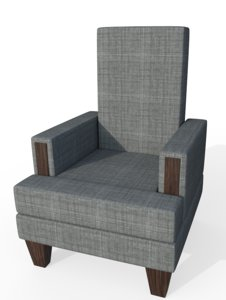 stuffed chair 3D model