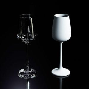 wine glasses 3D