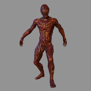 mutant characters humanoid 3D model