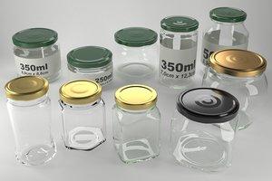 glass jars vol1 3D model
