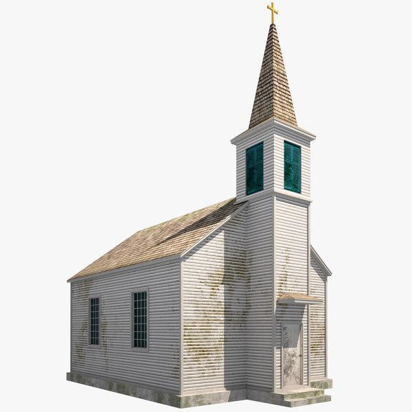 white church 3D