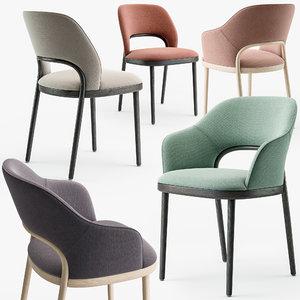 thonet 520 chair set 3D model