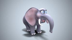 elephant cartoon toon 3D model