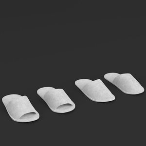 3D disposable slippers model