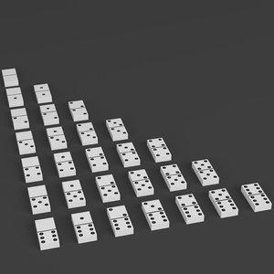 domino set 3D