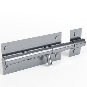 3D model door latch