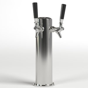 double beer tap model