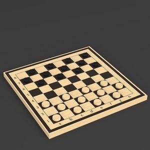 3D draughts board