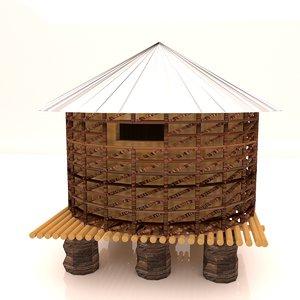 rice paddy 3D model