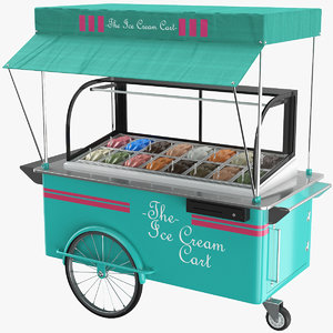 real ice cream cart 3D model