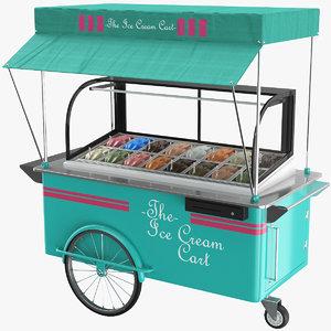 real ice cream cart 3D model