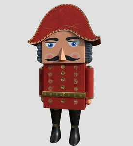 nutcracker xmas christmas 3D model