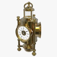 Davy Lamp Clock