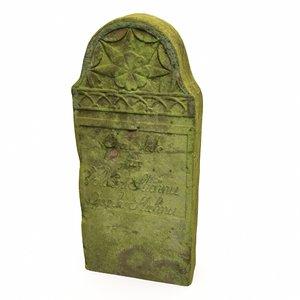 3D tombstone gravestone grave model