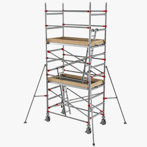 3D model scaffolding industrial construction